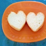 ハート型パン