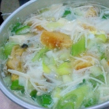 干し鱈と豆腐の鍋