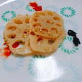 レンコンの醤油焼き