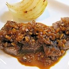 ニンニク&タマネギソースのステーキ