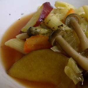 秋野菜のミネストローネ