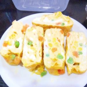 ミックスベジタブル卵焼き