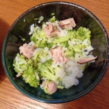 離乳食☆カツオとブロッコリーの雑炊