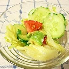 酵素たっぷり甘酒ドレッシングのグリーンサラダ