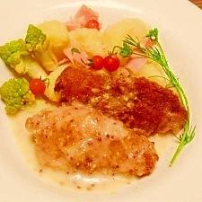 魚フライ☆ホワイトマスタードソース