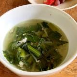 小松菜とベーコンのあっさり簡単スープ