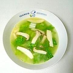 ☆レタスとエリンギのバタースープ☆
