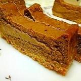 ミキサーで混ぜて焼くだけ★簡単チョコチーズケーキ