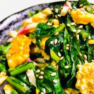 小松菜と卵の中華風炒め