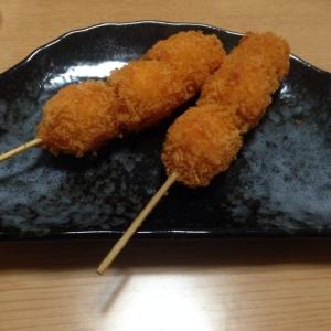 竹串で★うずら卵のフライ(*^^*)