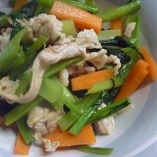 豚肉の彩野菜炒め