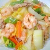 白菜とエビのうま煮