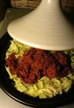 レンジで作るキャンベツとコンビーフのタジン鍋