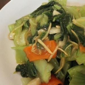 チンゲン菜の蒸し煮