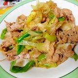 豚肉とネギのすき焼き風炒め
