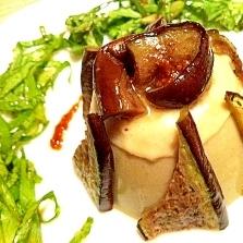 濃厚なのにあっさりvv焼き茄子のごま豆腐風ムース