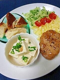 ダイエットに☆つくねと野菜のスイーツ添えプレート♪