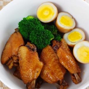 シークヮーサーぽん酢で作る手羽中のさっぱり煮