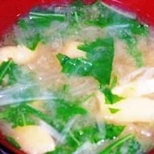 水菜と大根のみそ汁