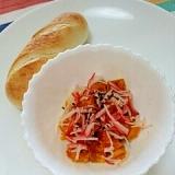 冷凍パンで☆かぼちゃ&カニカマとプチパン♪