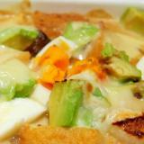 アボカドと餅と厚揚げの味噌クリームグラタン