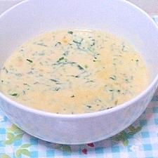 ほうれん草のコーンスープ