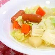 ノンバター・ほっこり野菜スープ☆冬にあったか♪