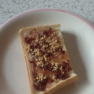 餡子ときな粉のトースト