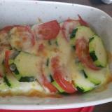 ズッキーニとトマトのチーズ焼き