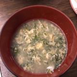 おかひじきで☆かきたまスープ