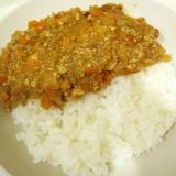 豆腐とトマトのカレーライス