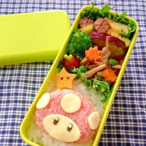 簡単キャラ弁☆スーパーキノコ(マリオ)のお弁当♪