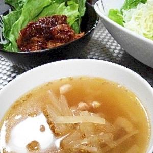 簡単すぎる(笑)大根と鶏肉の中華スープ♪