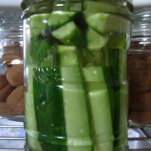 夏きゅうりのリンゴ酢ピクルス
