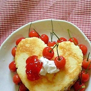 HMで簡単デザート♡ホイップあんケーキ♡