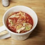 トマトジュースで簡単!トマトオートミール粥