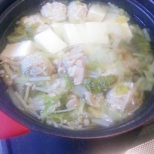 ぽかぽか★生姜の鶏つくね鍋