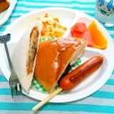 パンとフランクフルト♪子供が喜ぶ朝ご飯♡
