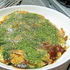 豆腐と油揚げの節約お好み焼き
