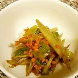 ごぼうとレンズ豆の中華風味