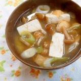 **なめこと豆腐のお味噌汁**
