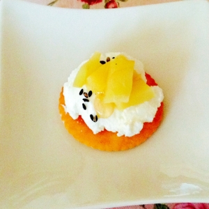 薩摩芋と水切りヨーグルトオン♡ザ♡リッツ