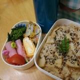 春なので…タケノコご飯のお弁当☆