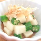 簡単☆長芋とオクラの昆布酢和え