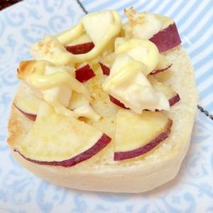 薩摩芋とクリチのトースト♡