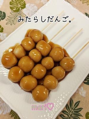 お豆腐効果で、もちっふわ♫みたらし団子&よもぎ団子
