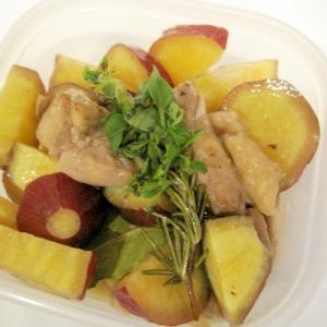 さつま芋と鶏肉の煮物