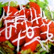 マグロのサラダマリネ丼