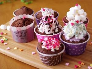 ダブルチョコのカップケーキでバレンタイン☆簡単HM