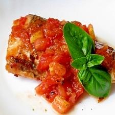 トマトとバジルで香りよく イタリアン塩さば